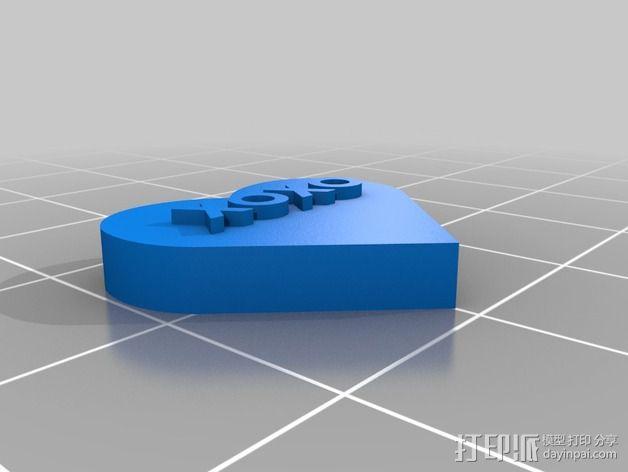 个性化心形装饰品 3D模型  图14