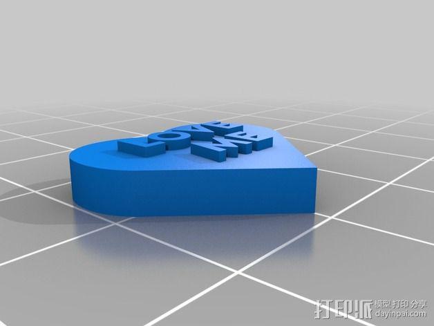 个性化心形装饰品 3D模型  图17