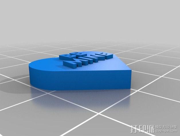 个性化心形装饰品 3D模型  图18