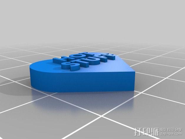 个性化心形装饰品 3D模型  图19