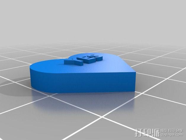 个性化心形装饰品 3D模型  图20
