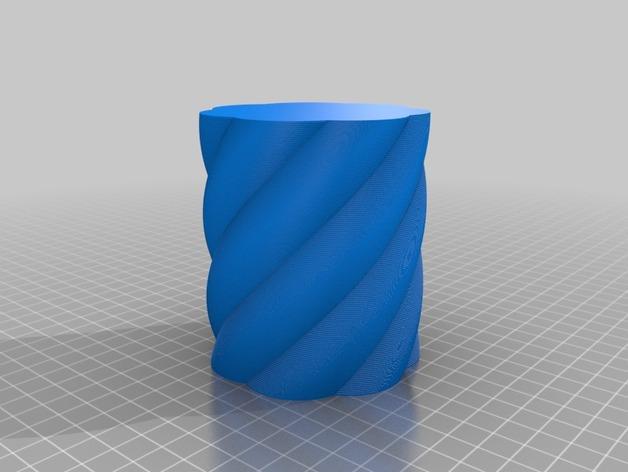 螺旋茶灯灯罩 3D模型  图2