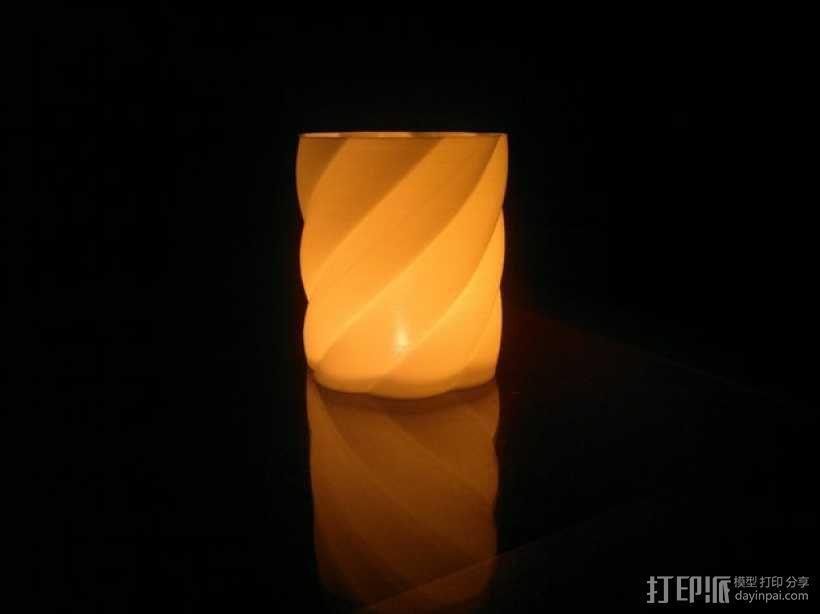 螺旋茶灯灯罩 3D模型  图1