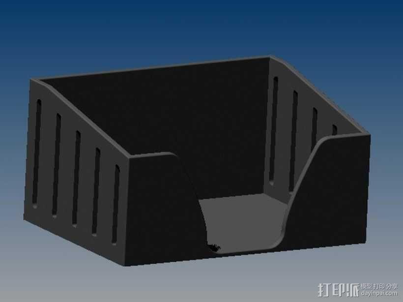 PostIt便利贴盒 3D模型  图1