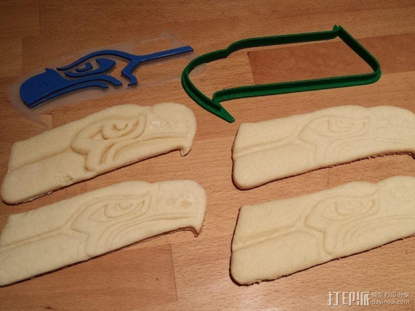 海鹰标志 饼干模具 3D模型  图1