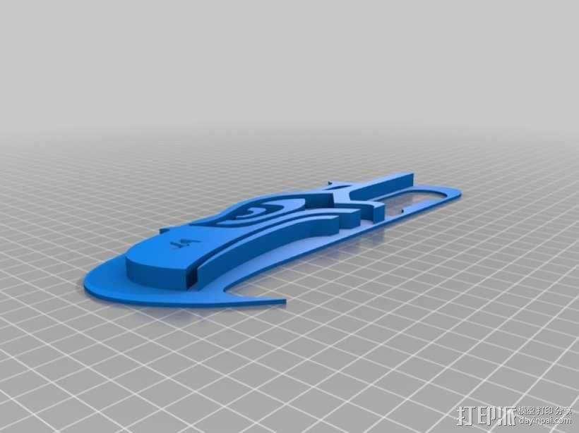 海鹰标志 饼干模具 3D模型  图3