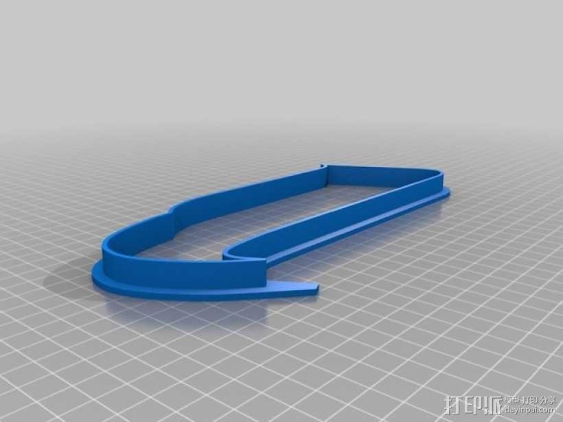 海鹰标志 饼干模具 3D模型  图4