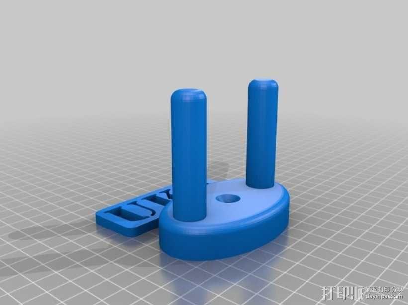 尤克里里墙上固定架 3D模型  图1