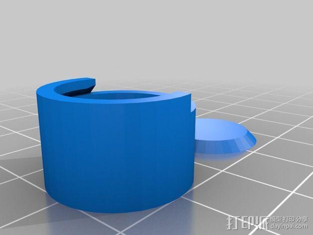 定制化圆柱形容器 3D模型  图2