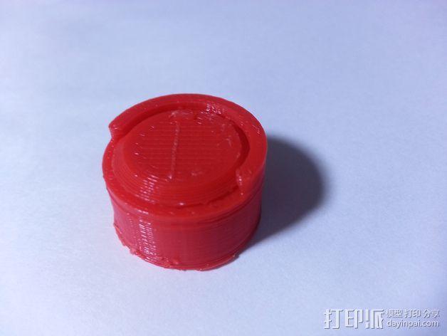 定制化圆柱形容器 3D模型  图3