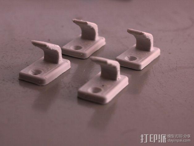 壁挂式挂钩 3D模型  图1