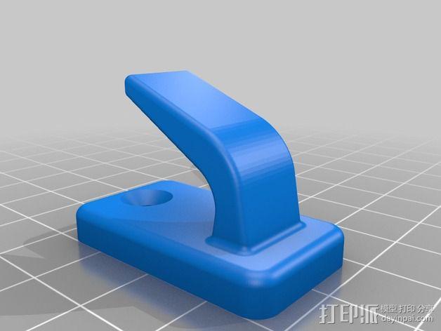 壁挂式挂钩 3D模型  图2