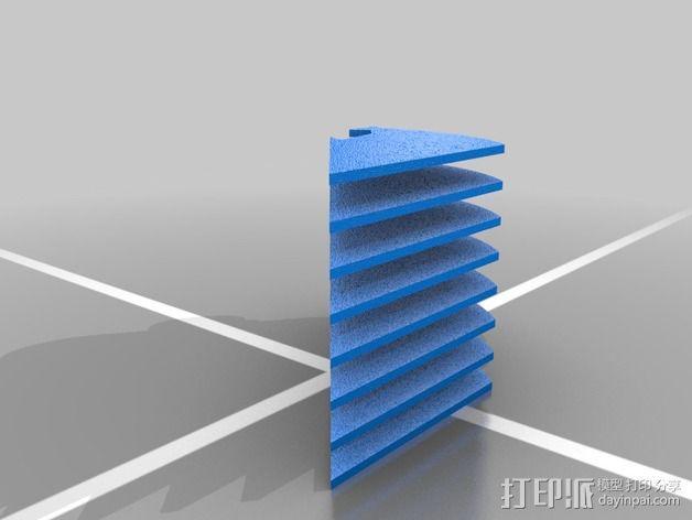 定制化华尔推剪零部件 3D模型  图4