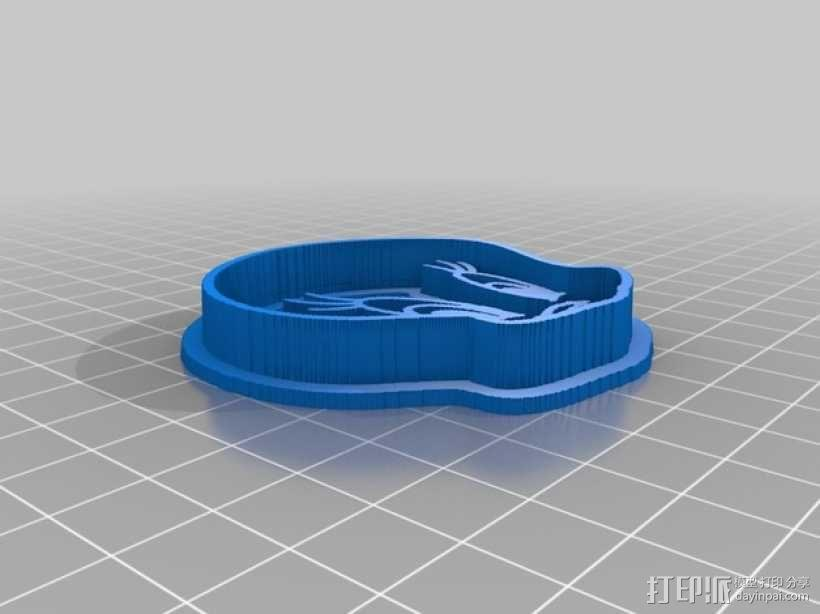 翠迪鸟 饼干模具 3D模型  图2