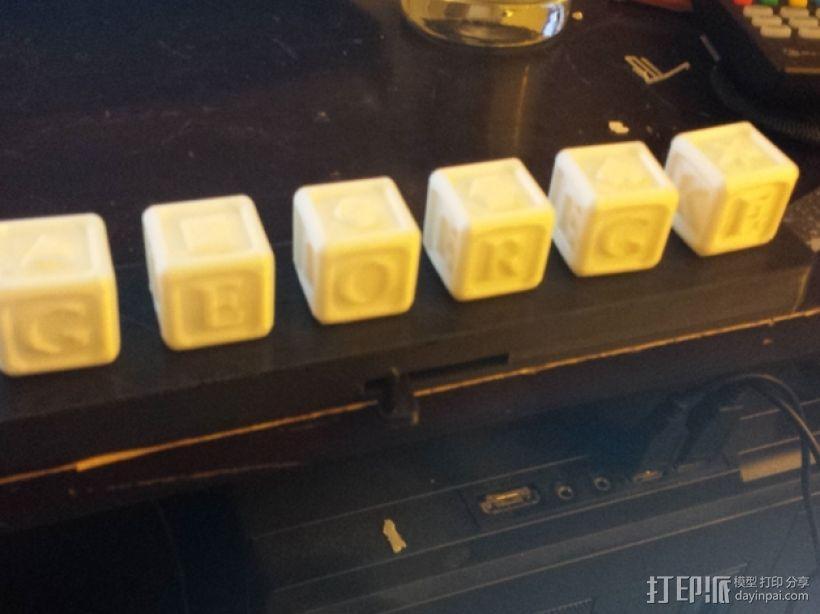 字母方块 3D模型  图1
