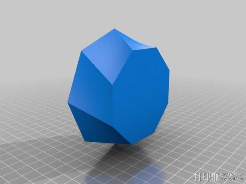螺旋八边形碗 3D模型  图2