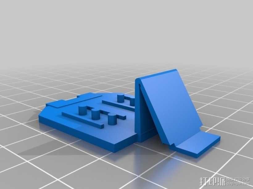 电动削铅笔器电池盒盖 3D模型  图2