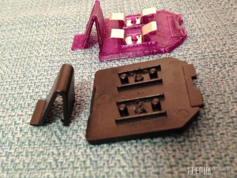 电动削铅笔器电池盒盖 3D模型  图5