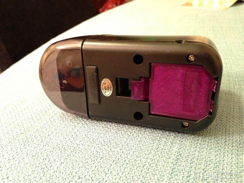电动削铅笔器电池盒盖 3D模型  图7