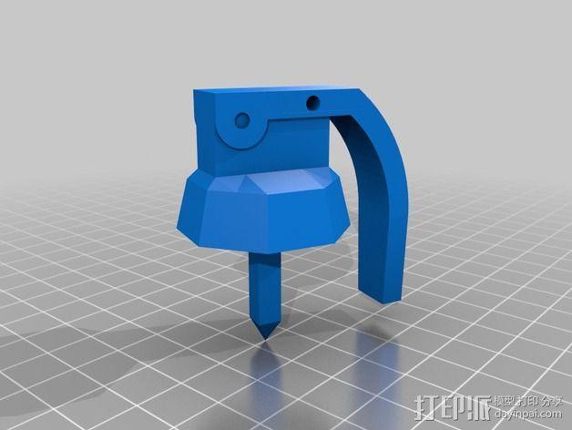 番茄手榴弹 3D模型  图2