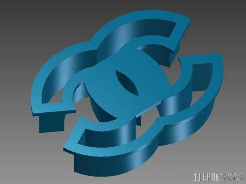 香奈儿 饼干模具 3D模型  图1