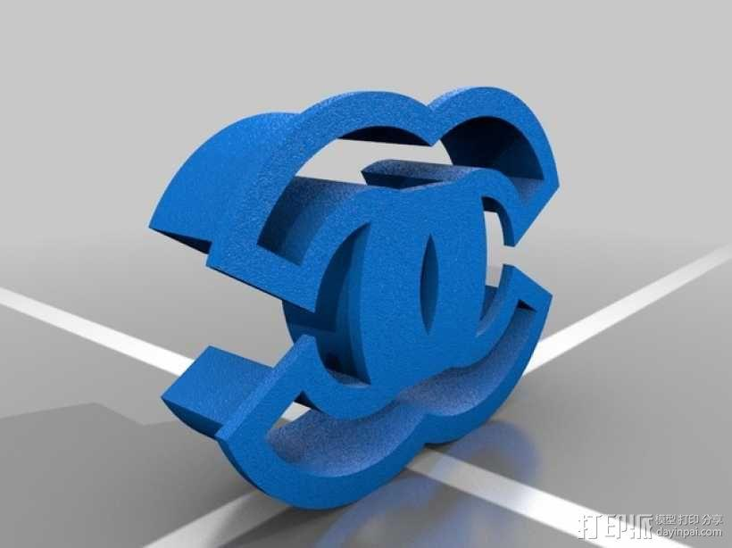 香奈儿 饼干模具 3D模型  图2