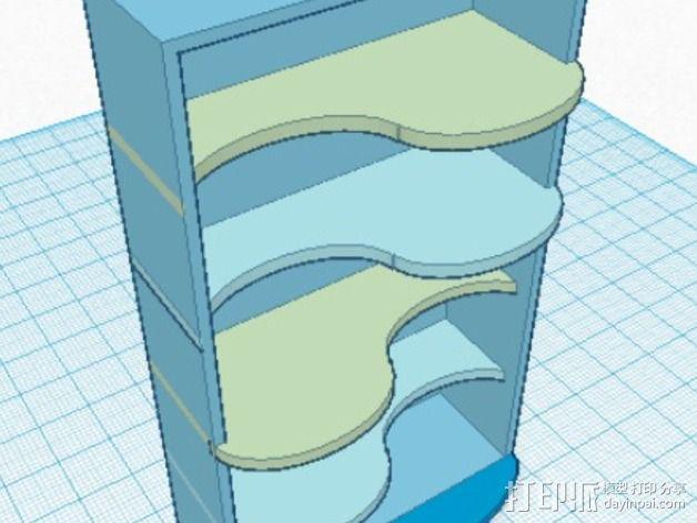迷你置物架 3D模型  图2