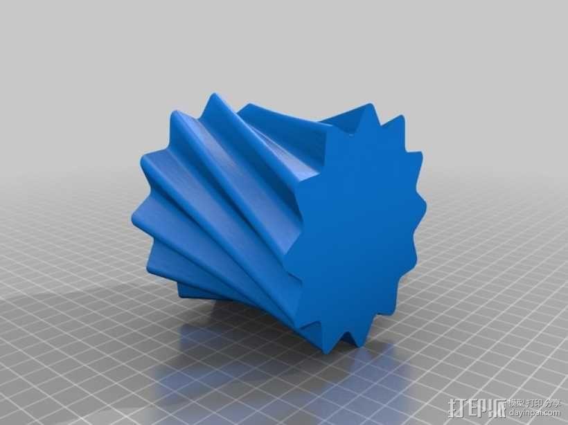 小圆蜡烛灯罩 3D模型  图6