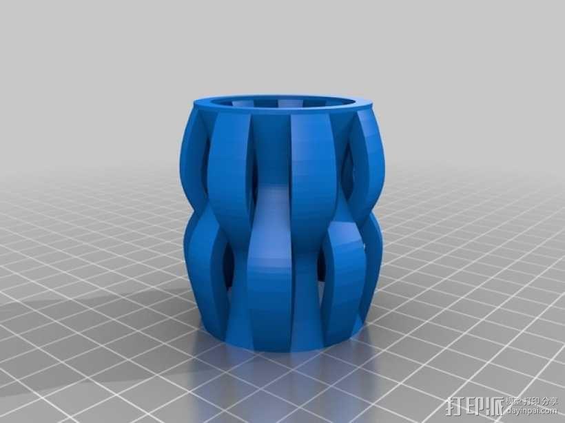 贝壳花瓶 3D模型  图2