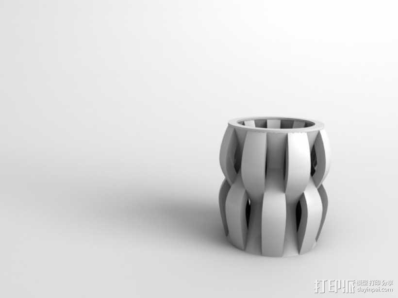 贝壳花瓶 3D模型  图1