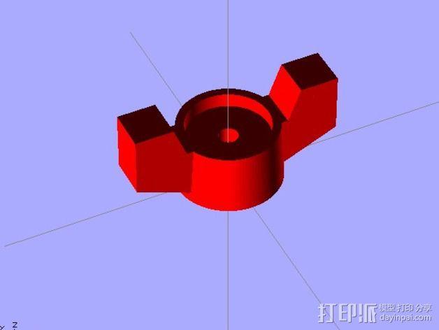 水龙头旋钮 3D模型  图1