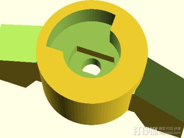 水龙头旋钮 3D模型  图3