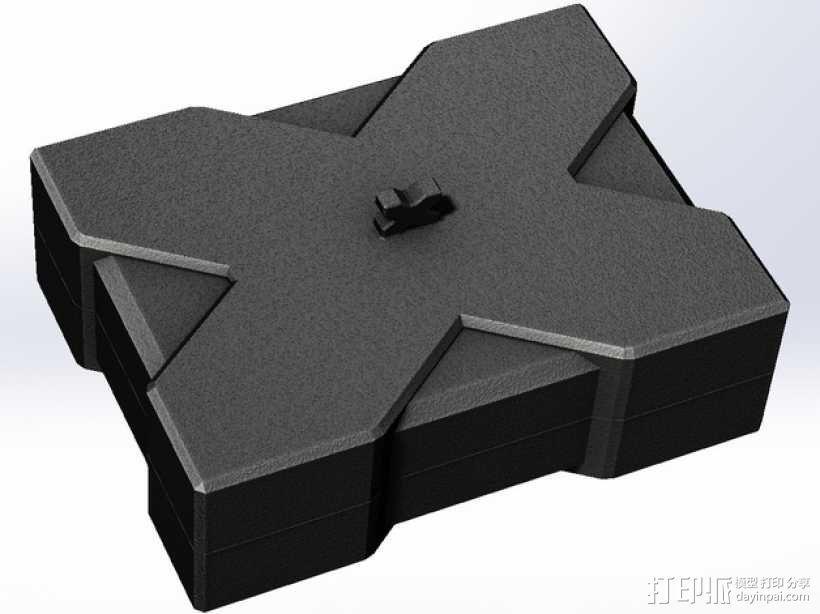 X方形小盒 3D模型  图1