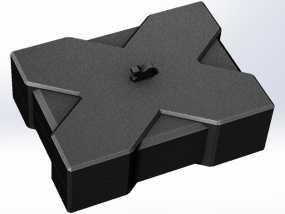 X方形小盒 3D模型