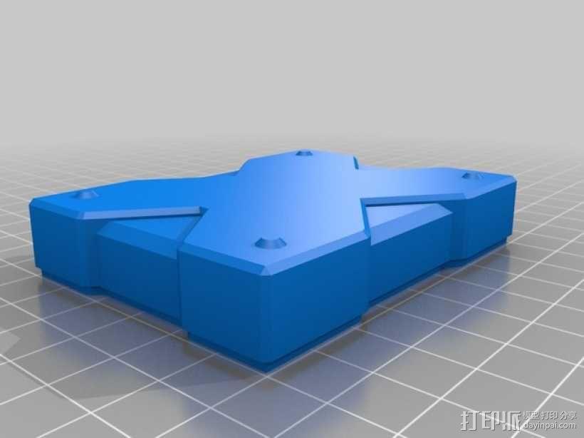X方形小盒 3D模型  图2