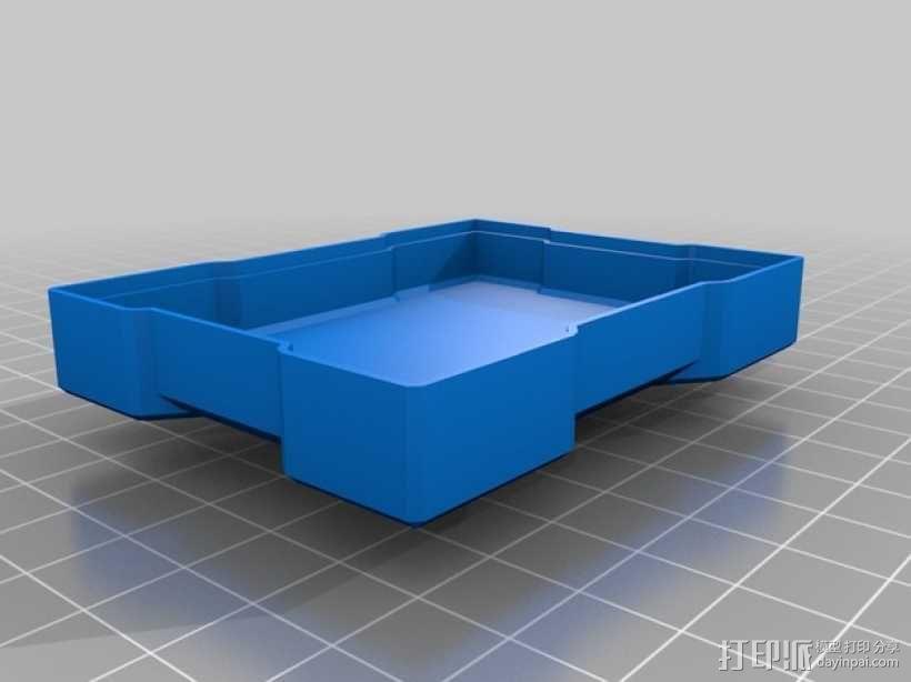 X方形小盒 3D模型  图3
