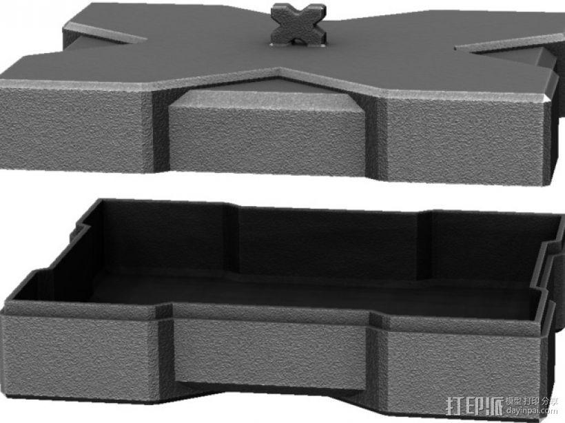 X方形小盒 3D模型  图4