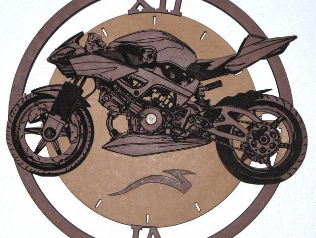 自行车 时钟 3D模型  图1