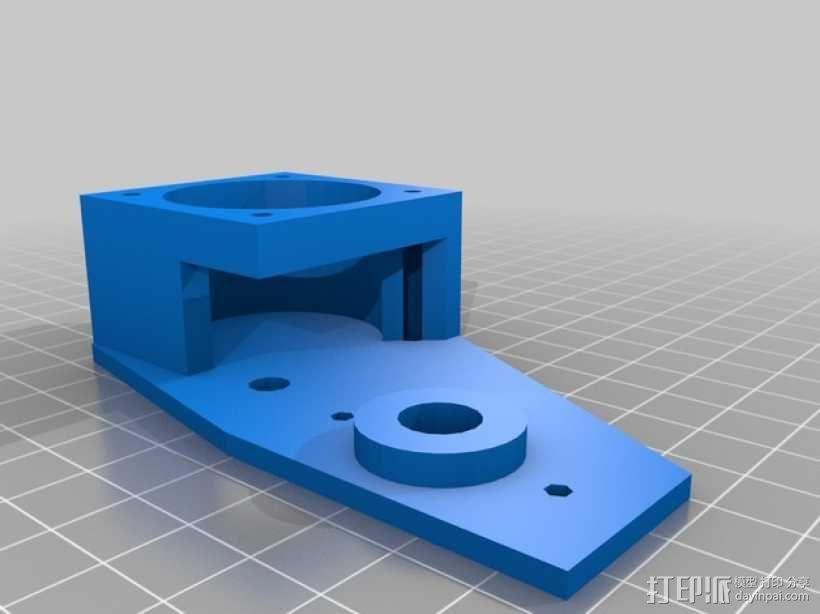 挤出机步进电机自动化测试装置 3D模型  图3