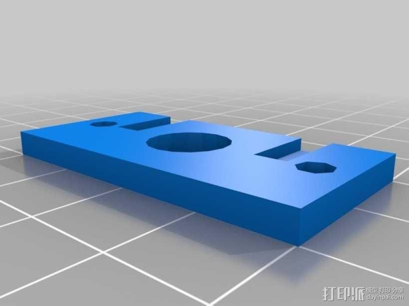 挤出机步进电机自动化测试装置 3D模型  图2