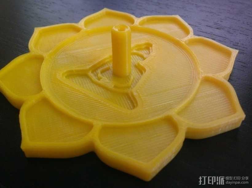 莲花形香薰托盘 3D模型  图1