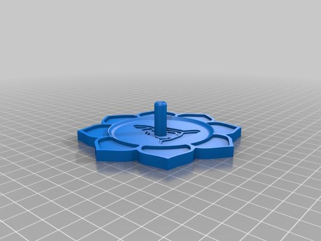 莲花形香薰托盘 3D模型  图3
