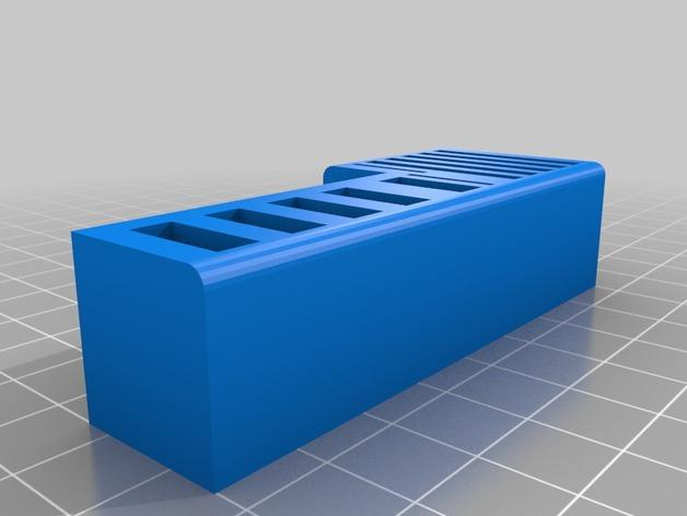 多功能SD/USB卡架 3D模型  图2
