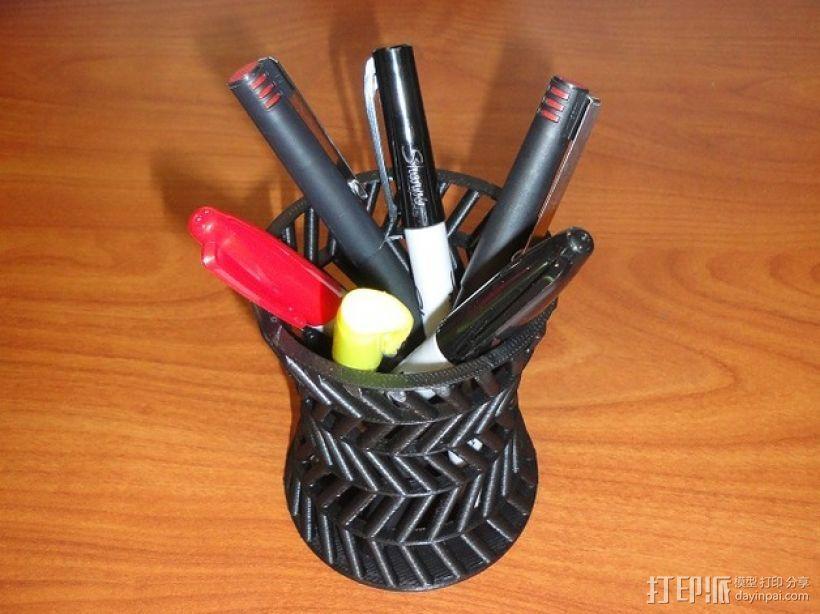 双曲面笔筒 3D模型  图1
