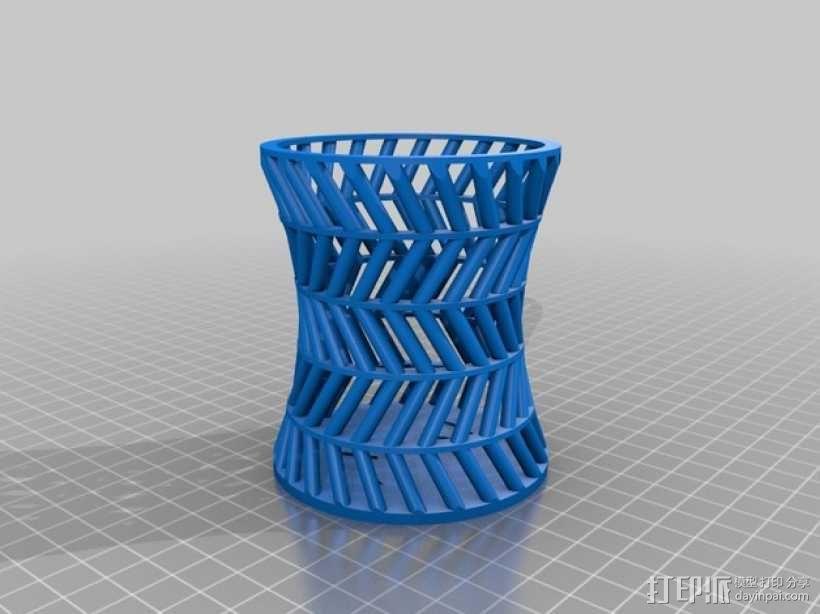 双曲面笔筒 3D模型  图2