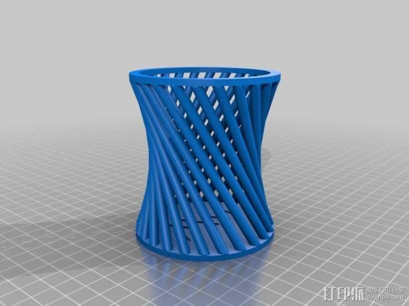 双曲面笔筒 3D模型  图4