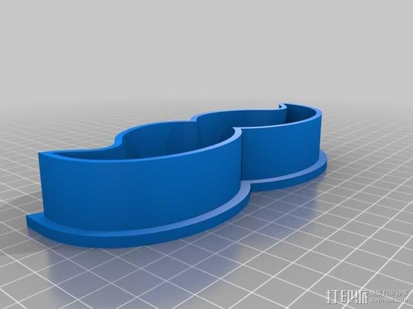 胡须 饼干制作模具 3D模型  图1