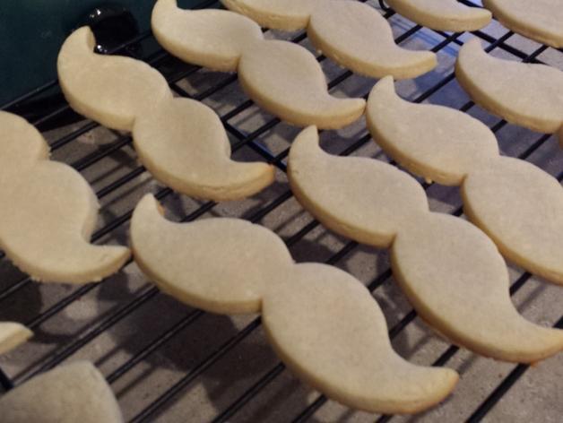 胡须 饼干制作模具 3D模型  图2
