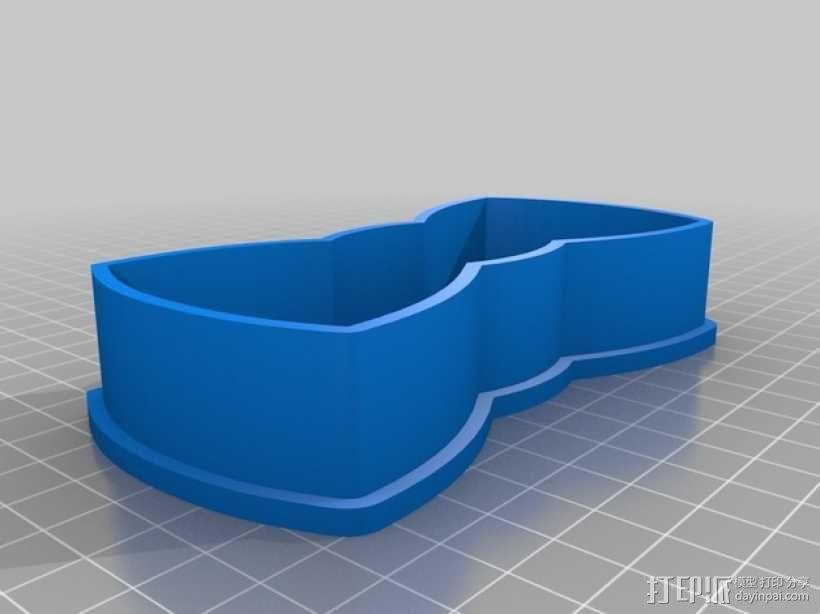 领结 饼干制作模具 3D模型  图1