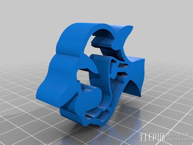 月亮鱼 饼干制作模具 3D模型  图2